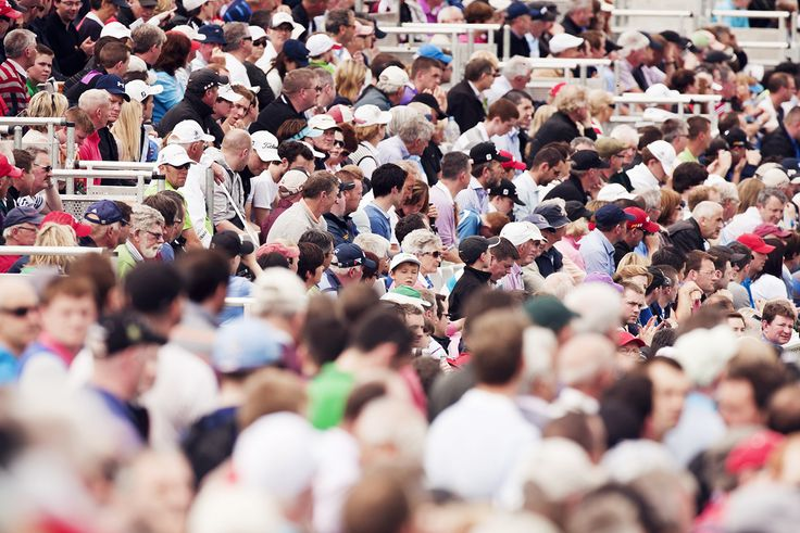 The crowds at Carton House