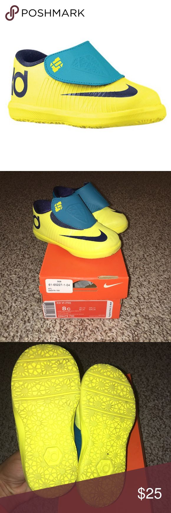 Nike KD VI Sneakers Toddler size 8 in excellent condition. Kevin Durant gym shoes. Velcro closure and extremely lightweight. Nike Shoes Sneakers