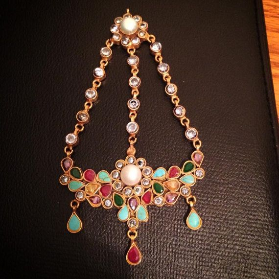 Gorgeous Multicolor Jhoomer Kundan and Pearl Pakistani by HQJewels