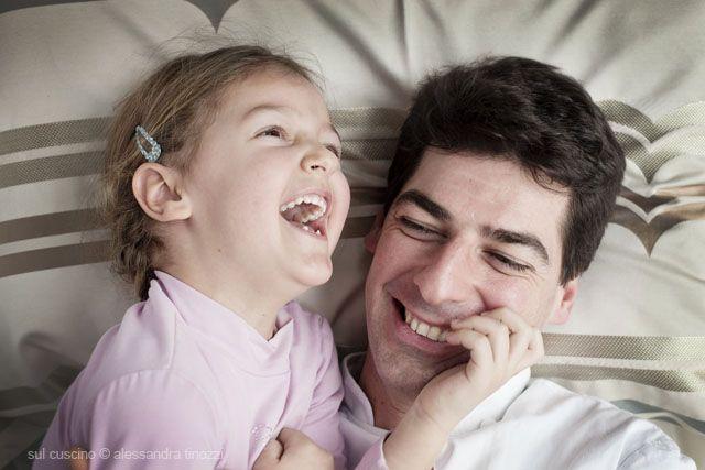 Chef Massimiliano Alajmo and daughter.