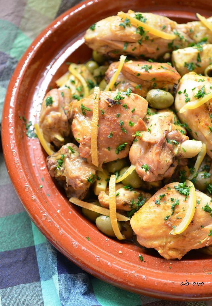 Tajine Huhn mit grünen Oliven und Zitronen-Confit