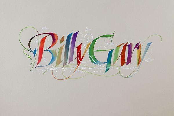 Random collection of calligraphy by John Stevens on Behance