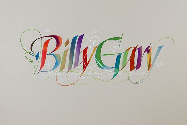 Random collection of calligraphy by John Stevens on Typography Served