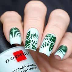 Sophin 350 (Matt Allure Collection) & stamping MoYou London Tropical Collection 12.