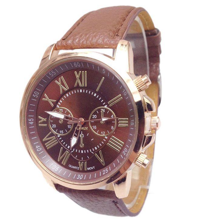 Unisex Men's watch Stylish Numerals Faux Leather Stylish Montre femme Fashion Brand Women Men Watches 2017 Bayan Kol Saati Feida #CLICK! #clothing, #shoes, #jewelry, #women, #men, #hats