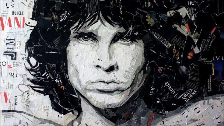 Jim Morrison - Magazine Collage Art