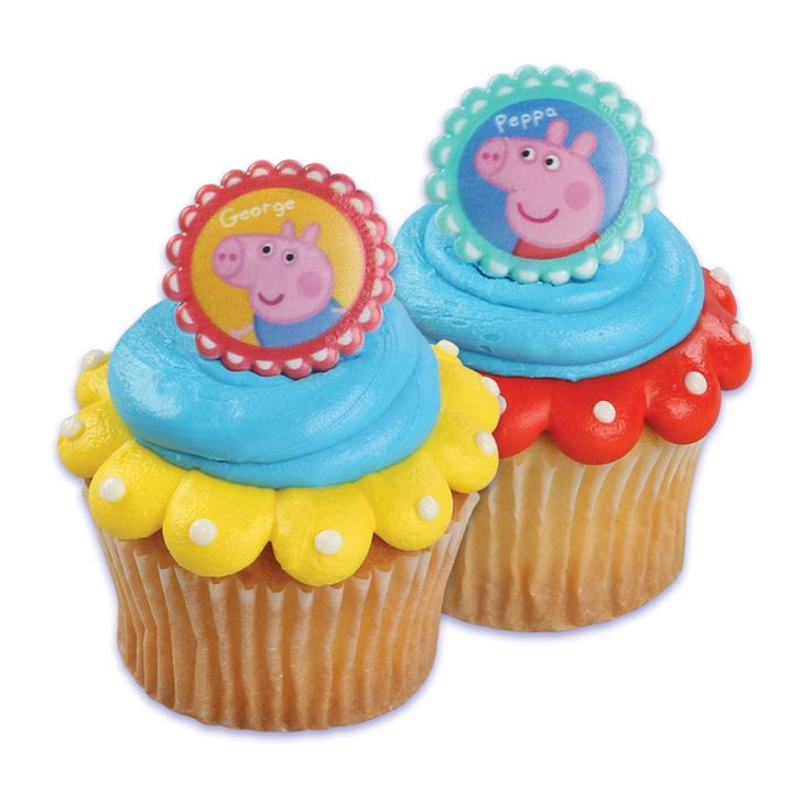 Peppa Pig cupcake toppers!