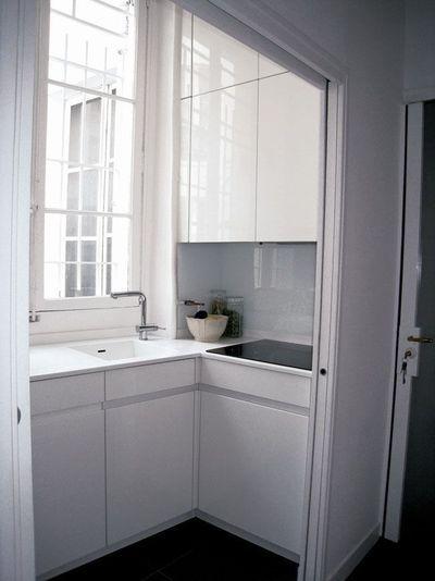 Une petite cuisine pratique de moins de 4m2 , c'est possible ! - CôtéMaison.fr