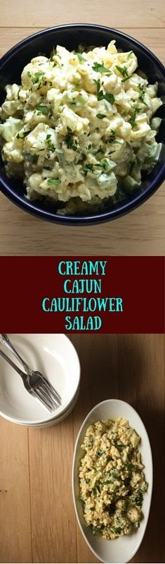 Just like south Louisiana potato salad, but oh sooo much lighter. This Creamy Cajun Cauliflower salad from A Sprinkling of Cayenne is easy to whip up on a weeknight, but you'll certainly want to share it with the ones you love the most on the weekend. | asprinklingofcayenne.com