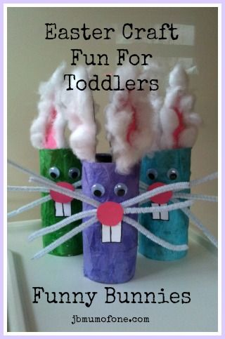 Toddler friendly #Easter craft: Funny Bunnies Super easy toilet roll craft