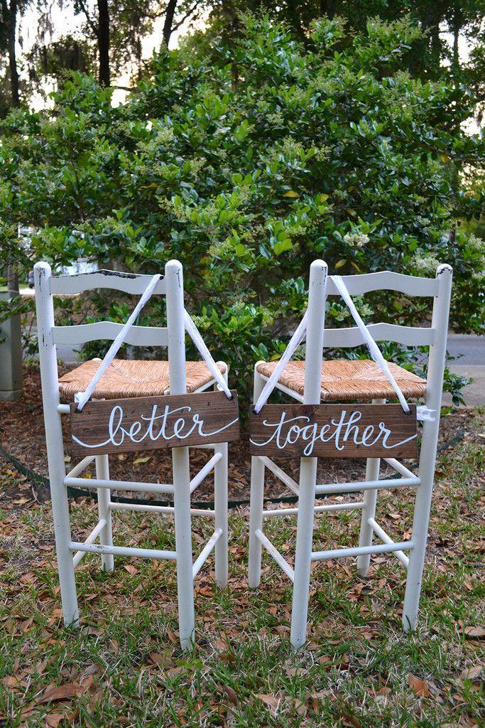 Better Together Sign   Backyard Wedding   Wood Wedding Sign   Little River Designs