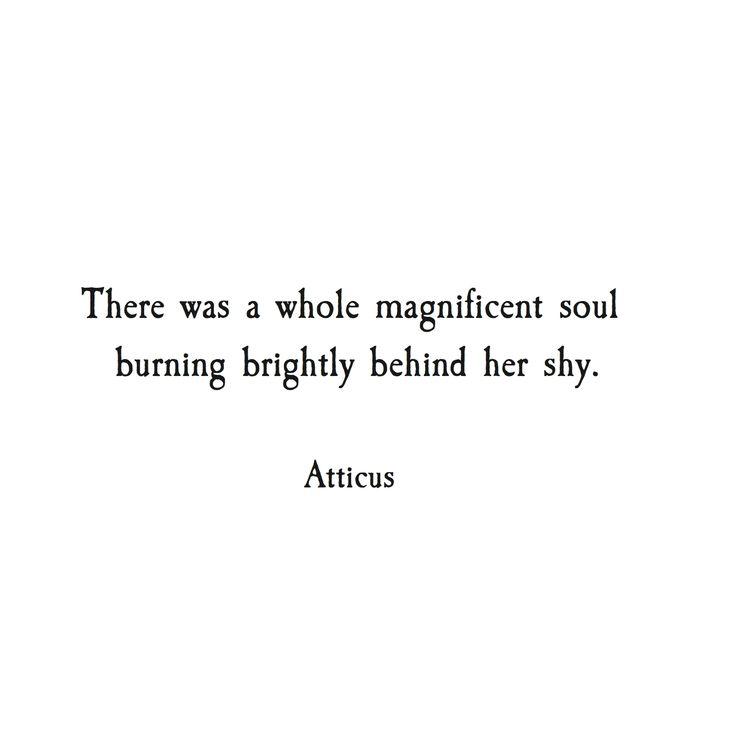 'Burning Brightly' #atticuspoetry