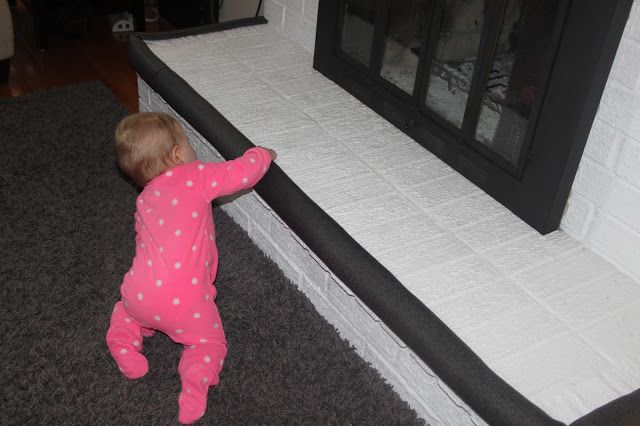 Baby-proof your fireplace using insulated foam for only $2 each! Beautiful Life Made Easy