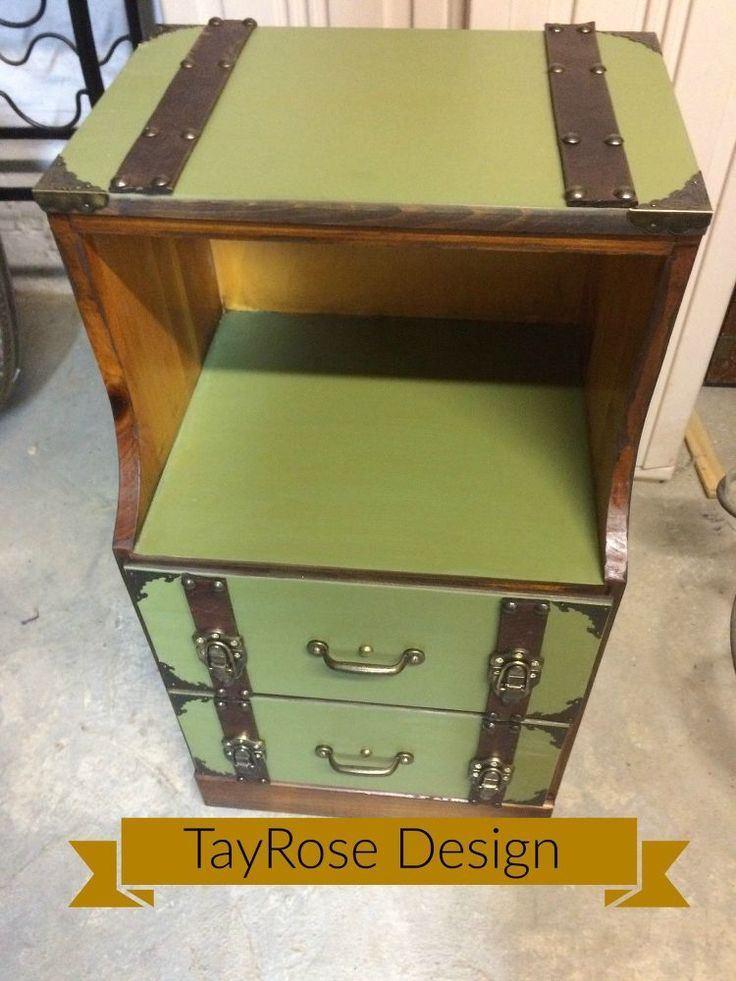 """Create a """"trunk"""" Inspired Look for a Nightstand"""