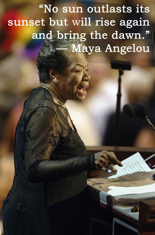 maya angelou an inspirational writer and Speaking to the atlantic earlier this year, janet mock, an activist for transgender  rights, said that angelou's example inspired her to write a.