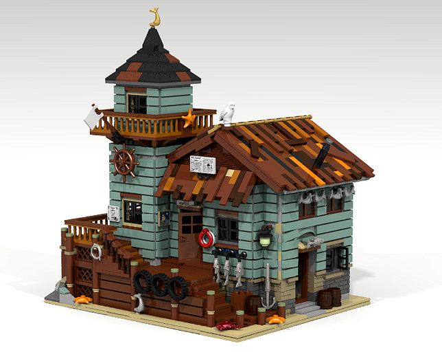 LEGO Ideas Old Fishing Store Achieves 10,000 Supporters - The Brick Fan | The Brick Fan