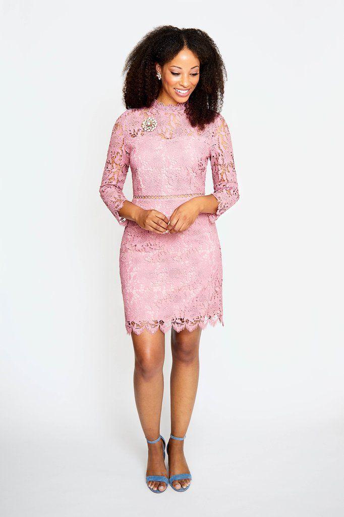 J.O.A Pink Lace Sheath Dress from Sweet & Spark. A feminine women's clothing brand- shop the collection now!