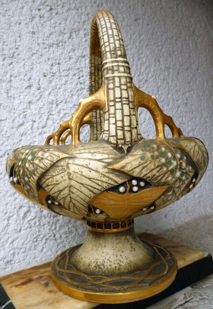 Exquisite Paul Dachsel Amphora Basket around 1910  Art Nouveau