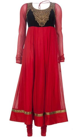 Red and blue color long anarkali suit – Panache Haute Couture http://panachehautecouture.co.in/collections/suits/products/purple-color-anarkali-kurta