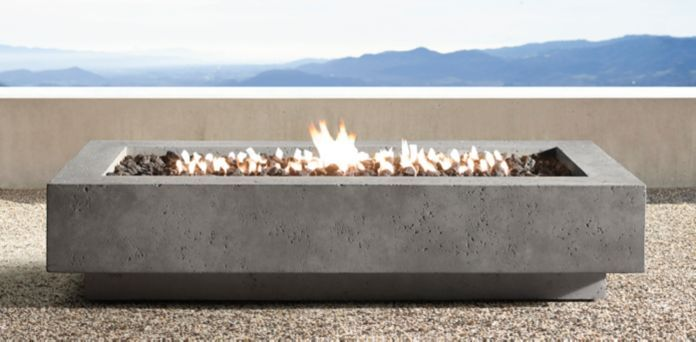 outdoor patio- Ixtapa Fire Table Collection | RH