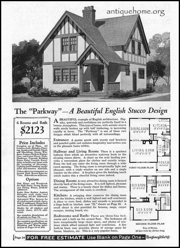 1928 Wardway Kit Houses The Parkway Kit Homes Vintage House Plans Vintage House