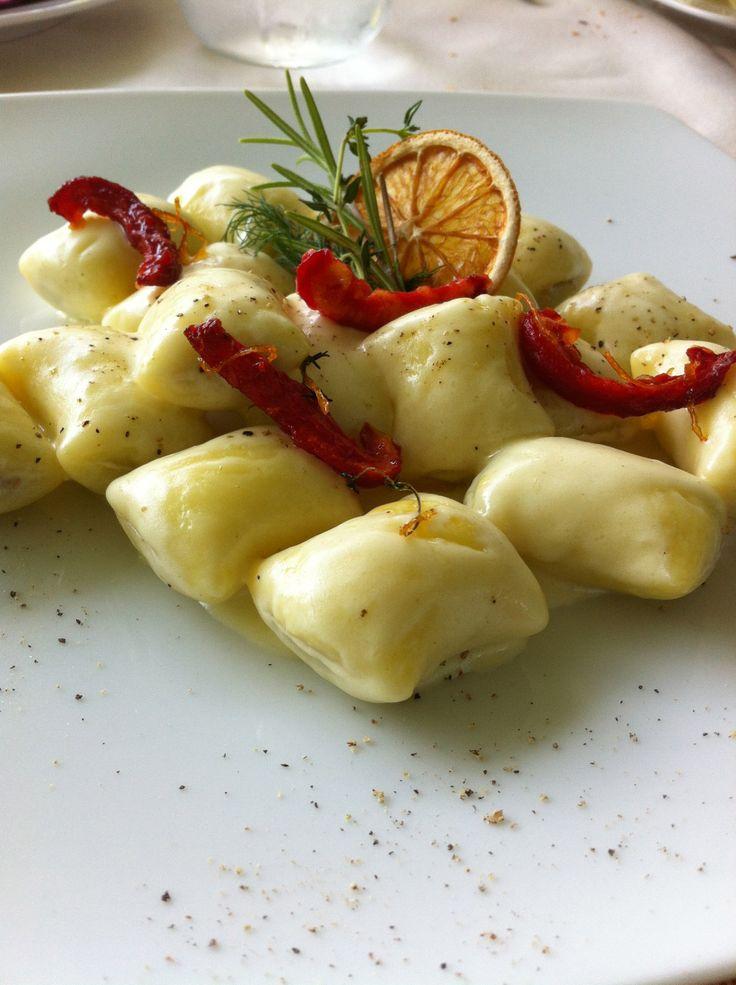 Home-made gnocchi