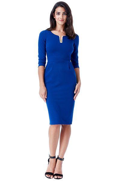 Modré společenské šaty City Goddess Corinne