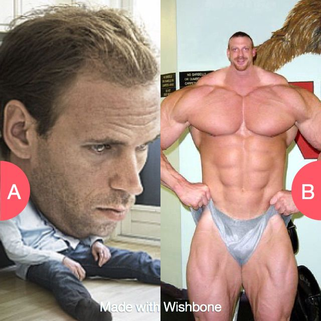 Would you rather have a huge head or tiny head? Click here to vote @ http://getwishboneapp.com/share/2071765