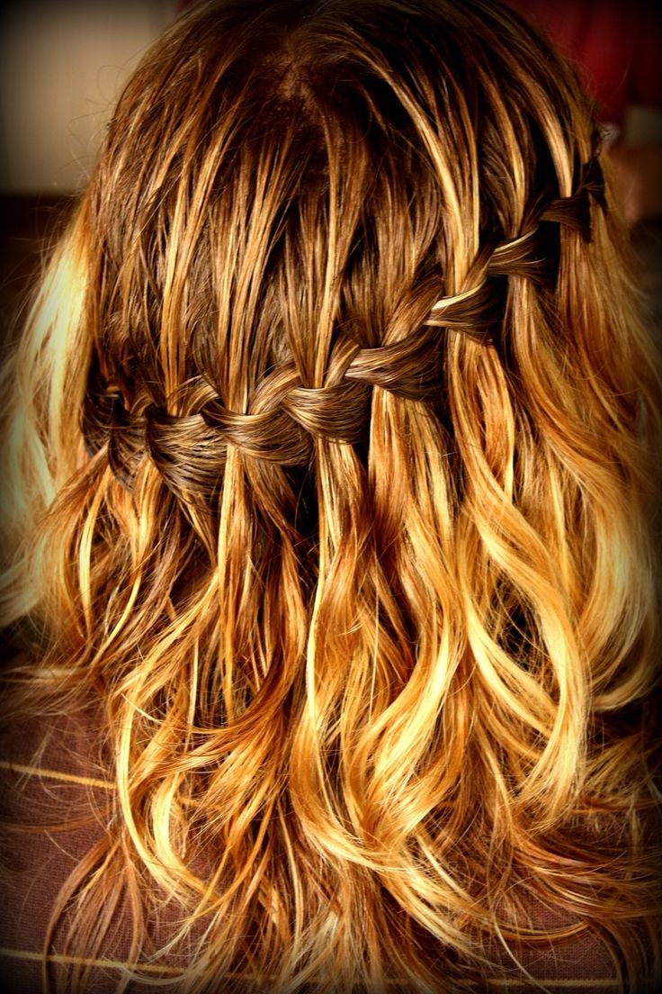 waterfall braid + stand-out hightlights. yes.