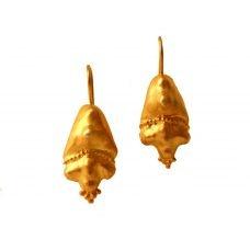 Silver dangle gold plating Earrings (E2)