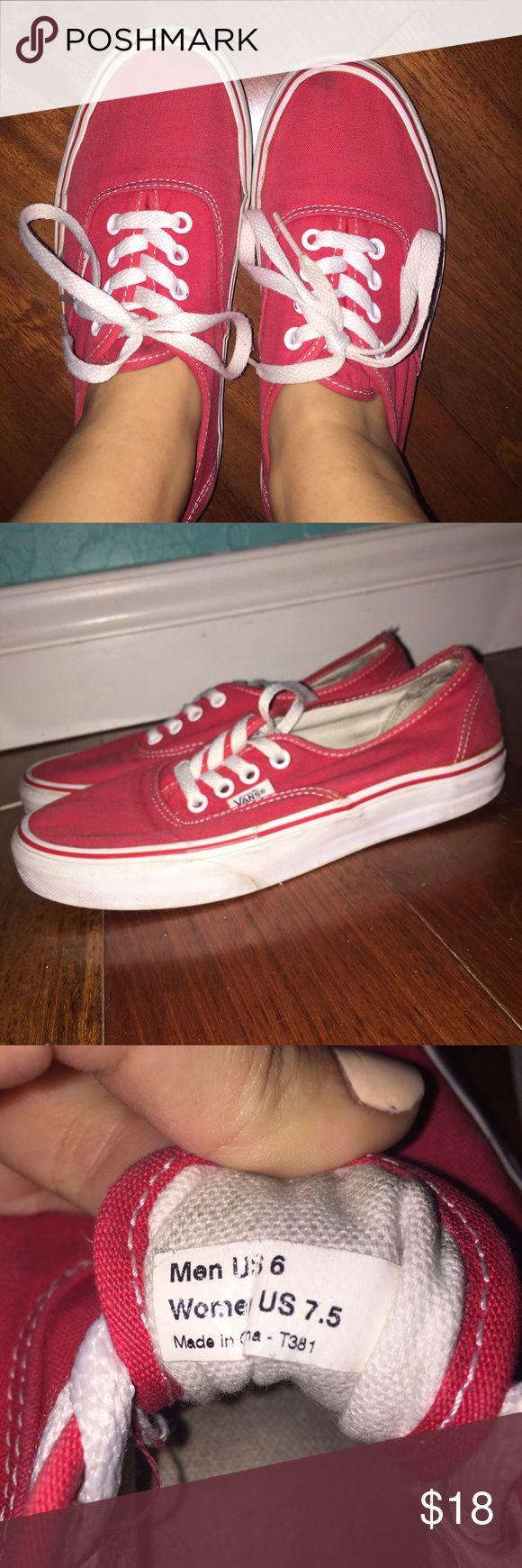 red vans red vans. used - mid condition Vans Shoes Sneakers