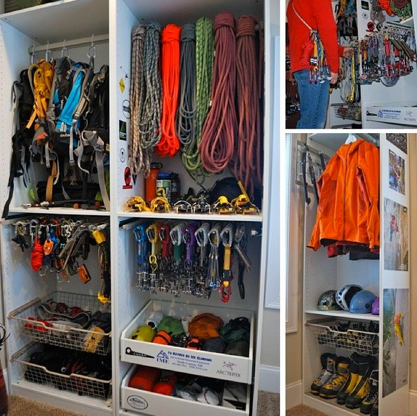 Inspiring organization for storing the stuff to get rad.