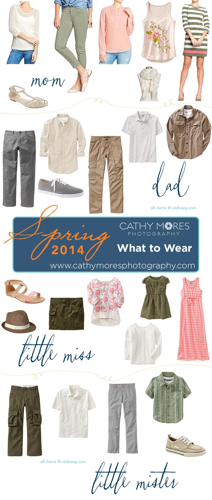 Family portrait outfit ideas for spring - Cathy Mores Photography