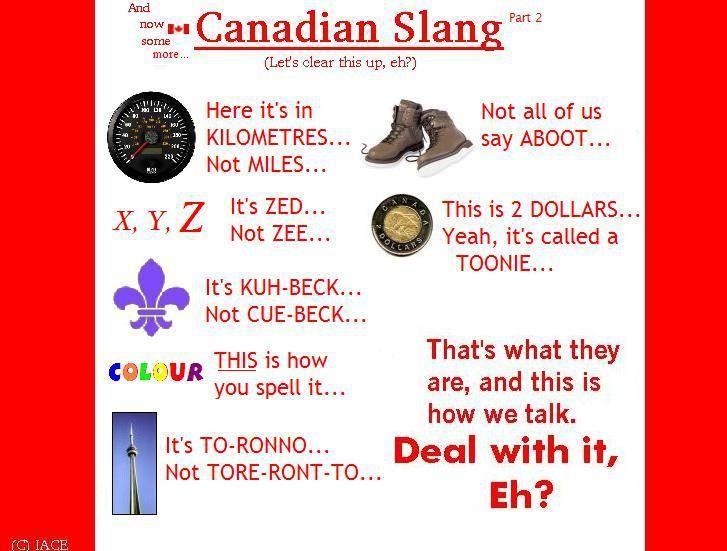 Canadian Humor: Canadian Slang. @Sabrina Mae via Lisa Domski-Soares