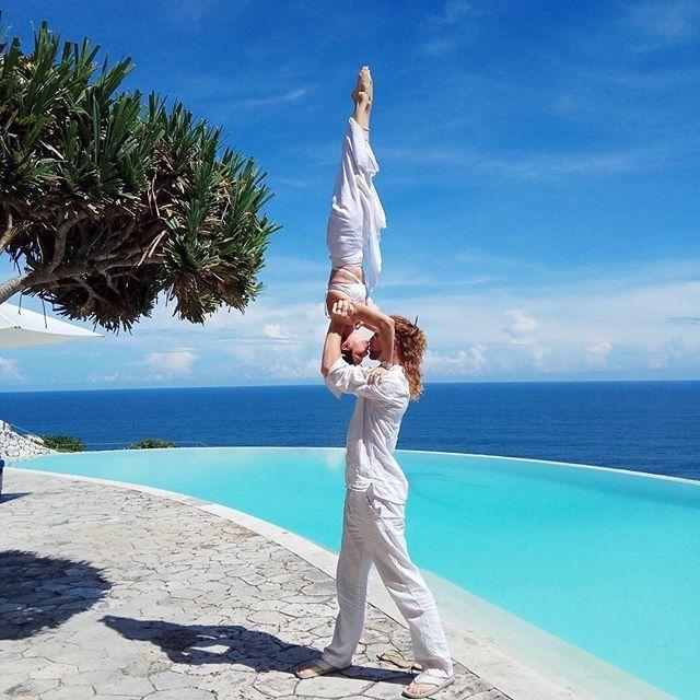 A bit of romantic acro-yoga at Karma Kandara! Just don't try this at home... 📷 @d_g14nt   #ExperienceKarma #KarmaSpa #KarmaResorts #KarmaKandara #Ungasan #Bali #Indonesia  #WonderfulIndonesia #Love #Couple #Perfect #Yoga #Acrobatics #Natural #Ocean #View #Sea #Travel #Luxury #Beautiful #Amazing #InstaGood #Follow #PhotoOfTheDay #Island #Holiday #Holidays #Paradise