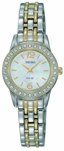 Seiko Women's SUP126 Dress Solar Classic Watch Seiko. $150.00. Hardlex crystal. Solar. Water-resistant to 30 M (99 feet). 30 Crystals. No battery required