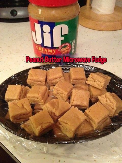 Creamy Peanut Butter Microwave fudge is easy to make and tastes delicious!