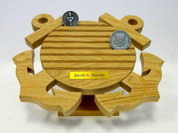 US Coast Guard Coin Holder w/ Stand on Etsy, $69.99