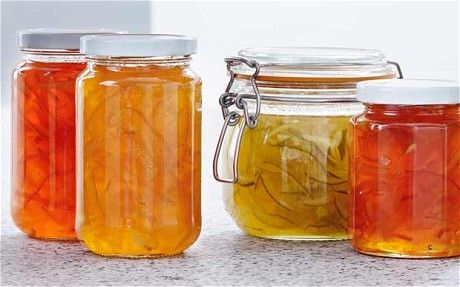 """""""Good Morning"""" marmalade: grapefruit, orange and blood orange. Read also this: http://www.telegraph.co.uk/foodanddrink/recipes/8219730/Lady-marmalade-learning-to-make-citrus-preserves.html"""