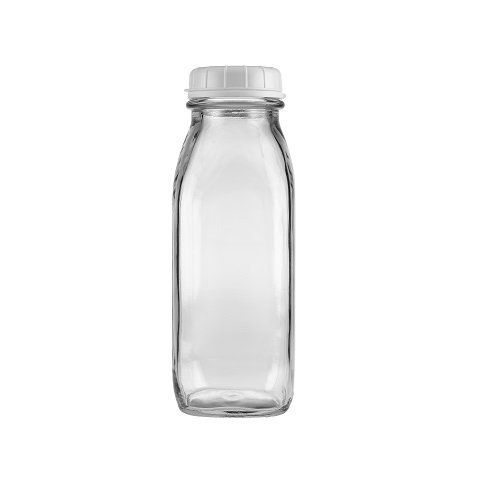 17 oz glass water bottles in bulk with lid(case of 24 - The Dairy Shoppe