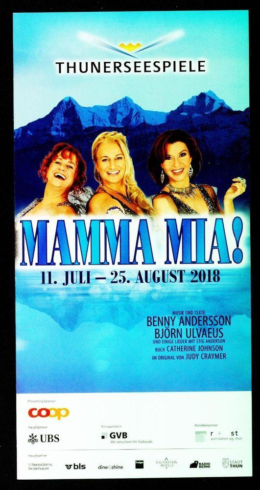 ABBA - MAMMA MIA! ORIG. MUSICAL FLYER - 2018 THUNER FESTSPIELE SCHWEIZ