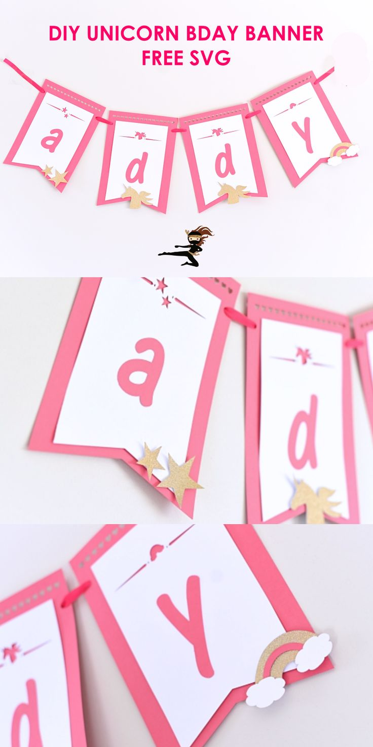 How to Make a Unicorn Birthday Banner FREE SVG in 2020
