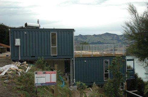 Hillside build using containers....love the deck