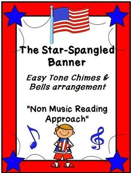"""***$3.00*** This product is a lesson plan and instrumental piece written in a """"non-music reading"""" approach for the song, THE STAR-SPANGLED BANNER. It is not meant to be an accompaniment for singing but rather the entire melody and accompaniment is written in order"""