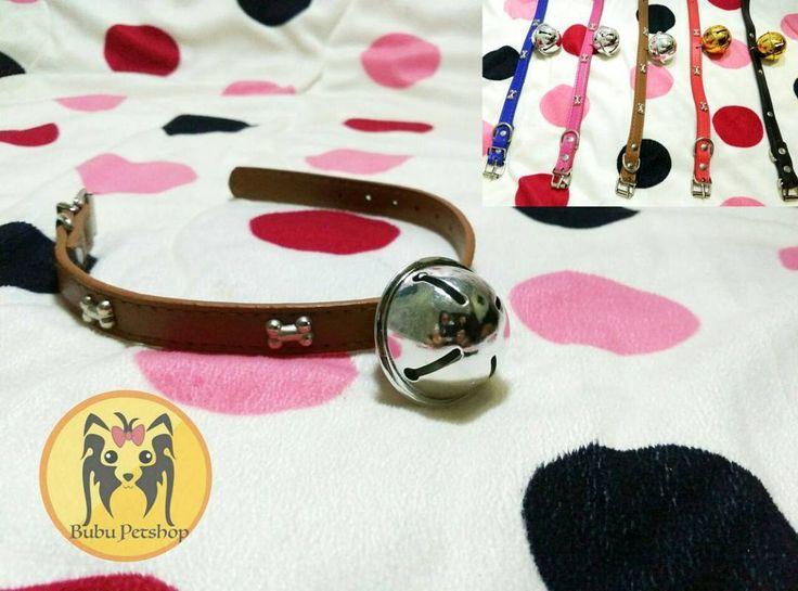 Collar For Dogs or Cats  Ready Stock price only IDR 29k  Size tali: 1.5 cm Panjang: 38 cm  Kalung anjing unik dengan lonceng cocok untuk small and medium breed.  Bahan kulit kuat dan jahitan rapih  Available color: red blue pink brown black dark blue  For question and order: Line: bubupetshop WA: 6285779937226  #dogs #bajuanjinglucu #dogslover #dogcollar #kalunganjing #anjinglucu #anjingindonesia #dogfashion #harness #dogleash #petstore #petshopindo #dogclotching #jualbajuanjing #dogwalk…