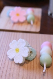 Sakura wagashi sweets
