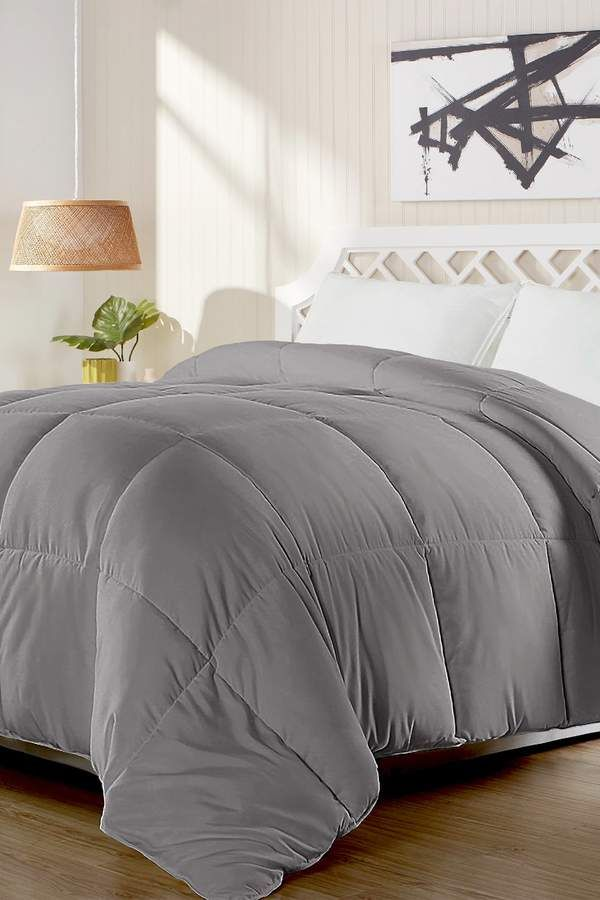 Blue Ridge Home Fashions Full Queen All Season Duck Feather And Down Comforter Grey Down Comforter House Styles Comforters