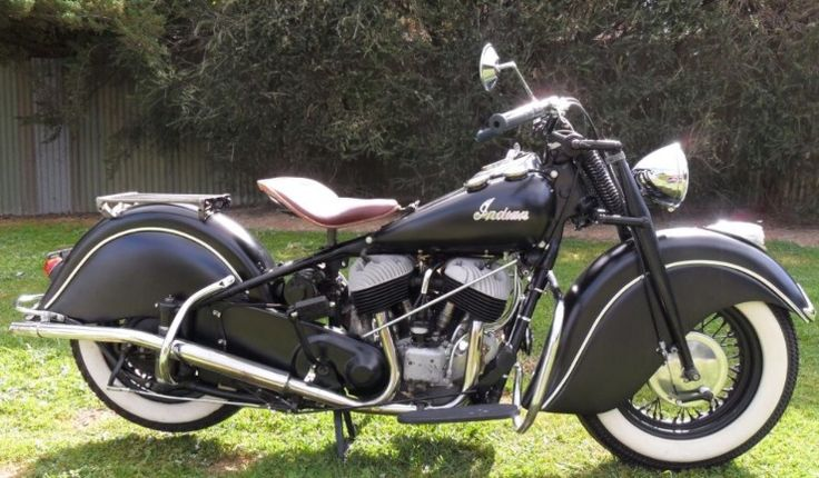 Way cool '47 Indian Chief Motocycle in matte black finish ...