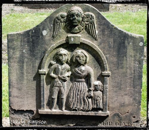 dundee howeff graveyard scotland | Dundee's Howff Cemetry in Scotland with Memorial Poems etched in Stone ...the whole family is on this one and like the big X I have never seen another one like this