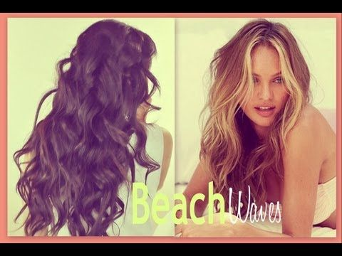 ★BEACH HAIR TUTORIAL: VICTORIA'S SECRET CURLY HAIRSTYLES - HOW TO CURL WAVES FOR MEDIUM LONG HAIR - YouTube
